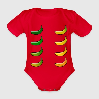 Bananas maturity - Organic Short-sleeved Baby Bodysuit