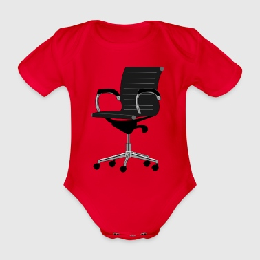 office chair - Organic Short-sleeved Baby Bodysuit