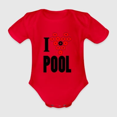 pool - Organic Short-sleeved Baby Bodysuit