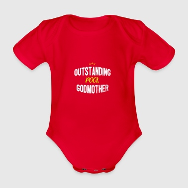 Distressed - OUTSTANDING POOL GODMOTHER - Organic Short-sleeved Baby Bodysuit