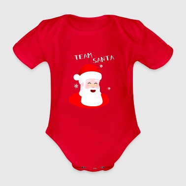 Team Santa - Santa Claus By SBDesigns - Organic Short-sleeved Baby Bodysuit
