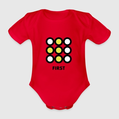 First - Organic Short-sleeved Baby Bodysuit