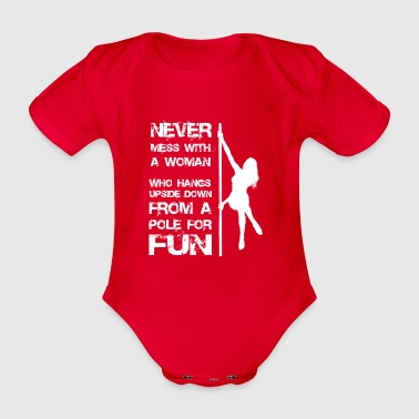 Pole dance woman gift - Organic Short-sleeved Baby Bodysuit