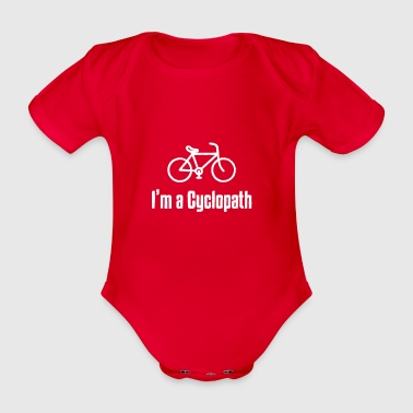 Cyclopath gift for Mountain Bikers - Organic Short-sleeved Baby Bodysuit