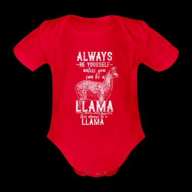 lama - Organic Short-sleeved Baby Bodysuit