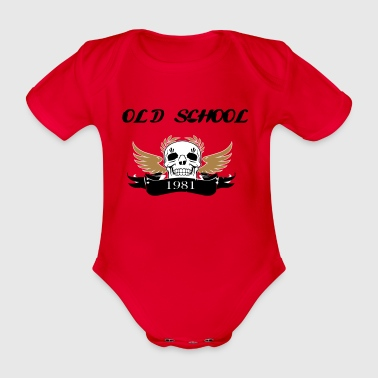 Old school1981 - Organic Short-sleeved Baby Bodysuit