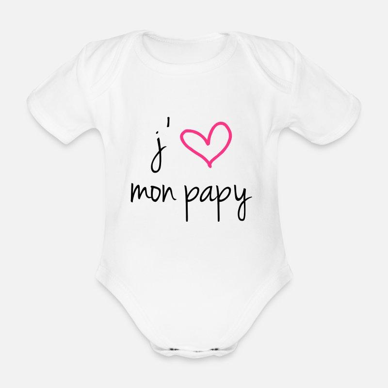 a8557ff3350cc Papy Vêtements Bébé - J aime mon papy - Body manches courtes Bébé blanc