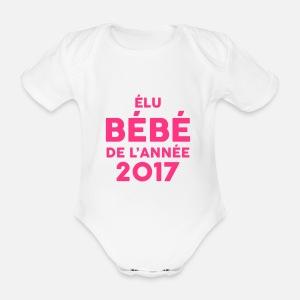 Elu Bébé de l année 2017 ! Body manches courtes Bébé  dd28b2cd360