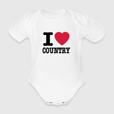i love country / i heart country - Body bébé bio manches courtes