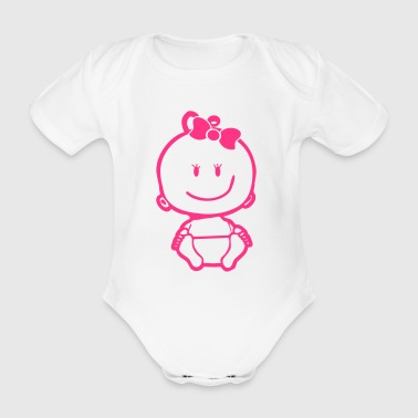 Baby Girl Icon - Baby Bio-Kurzarm-Body
