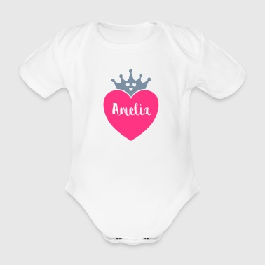 Amelia - Organic Short-sleeved Baby Bodysuit