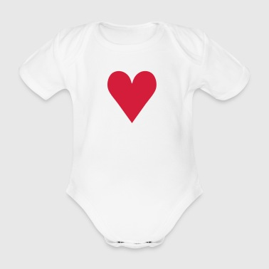 Heart / love - Baby Bio-Kurzarm-Body