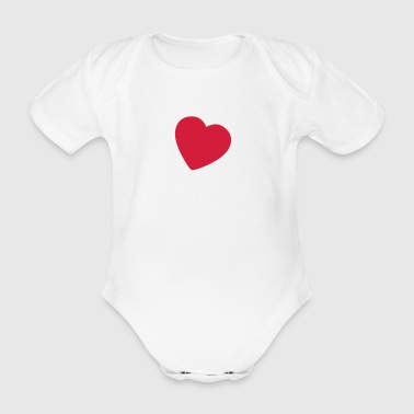 little heart EN - Organic Short-sleeved Baby Bodysuit
