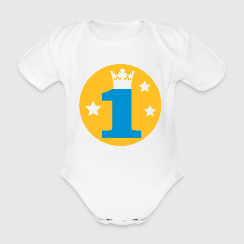 I am 1 year old! - Organic Short-sleeved Baby Bodysuit
