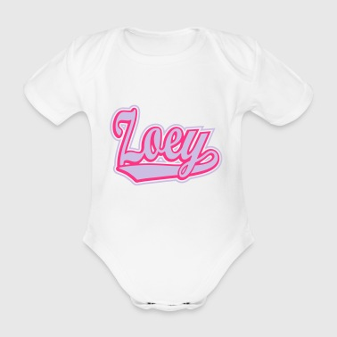 Zoey - T-shirt personalised with your name - Organic Short-sleeved Baby Bodysuit