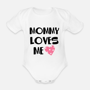 Mothersday MOMMY LOVES ME HEARTLY SON DAUGHTER GIFT - Baby Bio Kurzarmbody