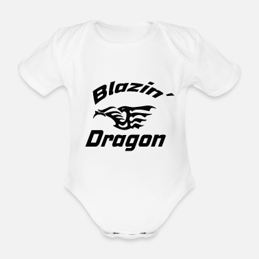 Medieval Dragon, Asian, Chinese, dragon, fantasy - Organic Short-sleeved Baby Bodysuit