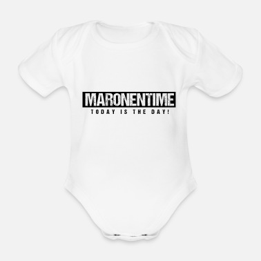 Today is the Day - Maronentime - Geschenk Maronen - Baby Bio Kurzarmbody