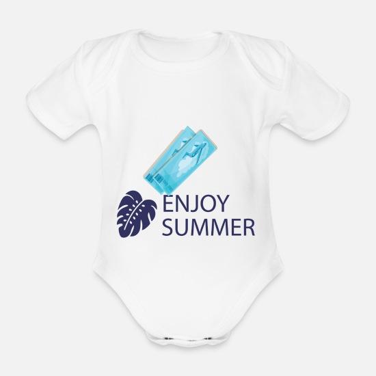c39549a6 Jul Babyklær - sommer - Økologisk kortermet babybody hvit