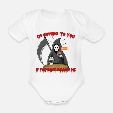 Social Network Follow Social Network Death - Organic Short-Sleeved Baby Bodysuit