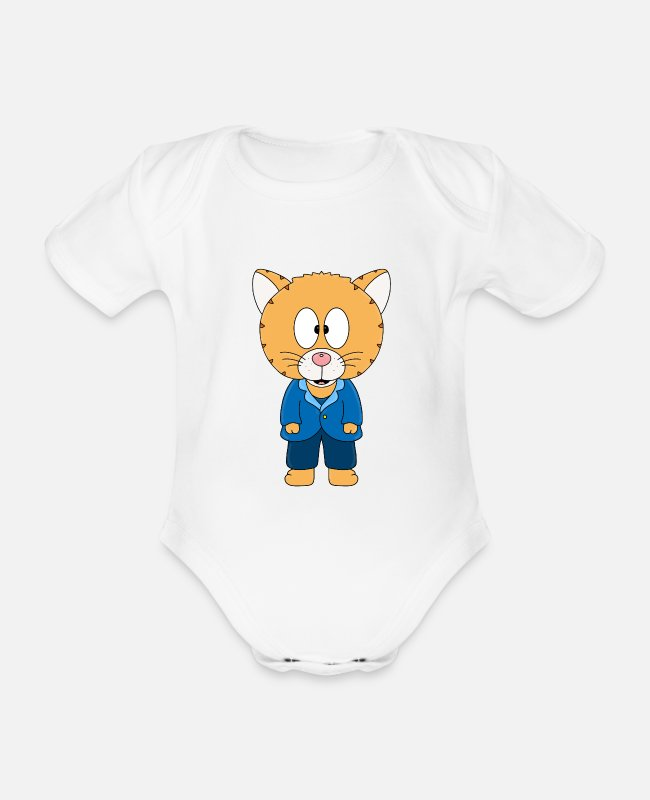 Husband Baby Bodysuits - CAT - WEDDING - HUSBAND - MARRIES - GROOM - Organic Short-Sleeved Baby Bodysuit white