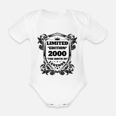 2000 2000 - Organic Short-Sleeved Baby Bodysuit