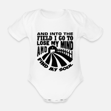 Field and into the field - Organic Short-Sleeved Baby Bodysuit