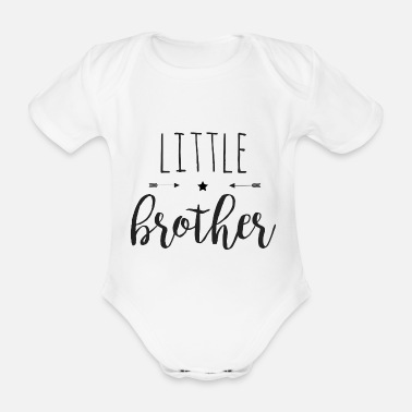 Little brother - Organic Short-Sleeved Baby Bodysuit