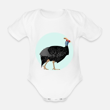 Fowl Guinea fowl - Organic Short-Sleeved Baby Bodysuit