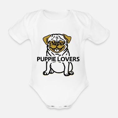 puppie lovers - Organic Short-Sleeved Baby Bodysuit