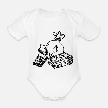 Potassium Cyanide Money - Organic Short-Sleeved Baby Bodysuit