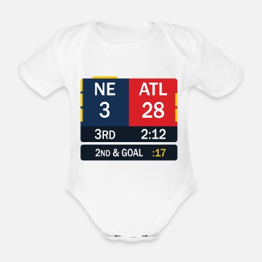 England New England Patriots comeback in Superbowl 51 - Organic Short-Sleeved Baby Bodysuit