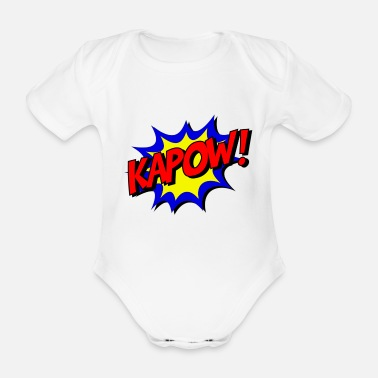 Comics Comic KAPOW! - Organic Short-sleeved Baby Bodysuit
