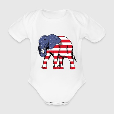 United Elefant - Baby Bio-Kurzarm-Body