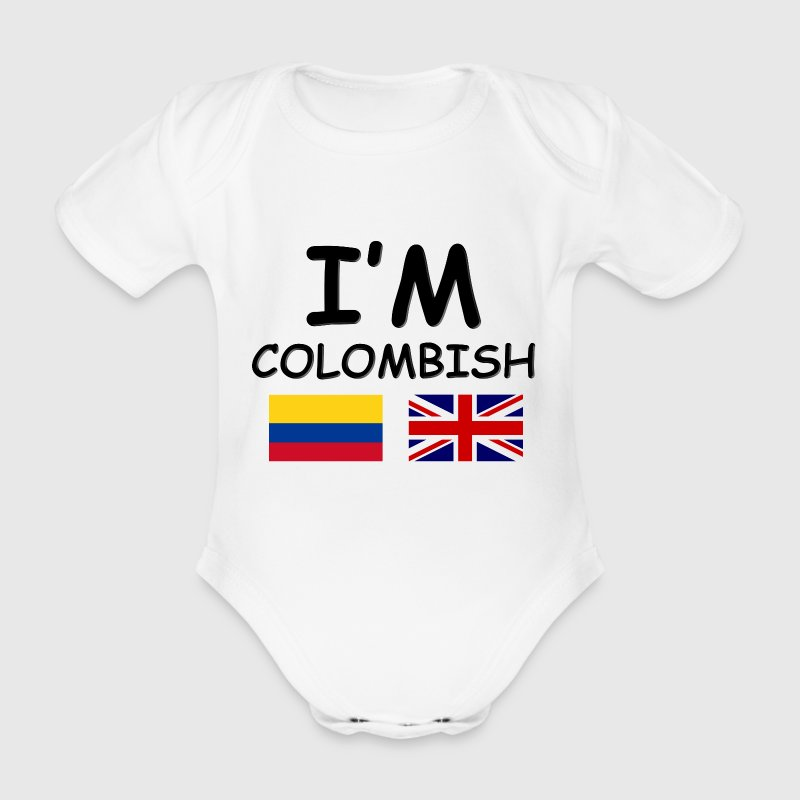 Colombian & English = Colombish - Organic Short-sleeved Baby Bodysuit