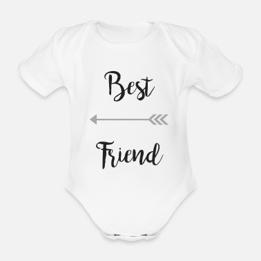 Best Friends Best friend - Organic Short-sleeved Baby Bodysuit