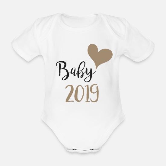 d19bd2d9 2019 Babyklær - Baby 2019 - Økologisk kortermet babybody hvit