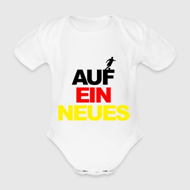 European Championship on a new world champion football Germany - Organic Short-sleeved Baby Bodysuit