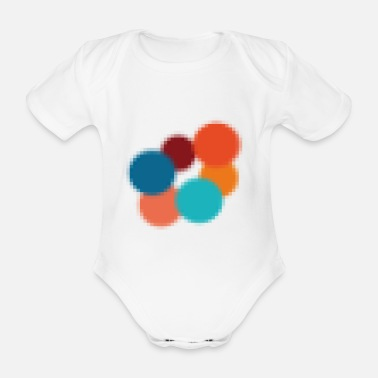 Circular pattern colorful - Organic Short-Sleeved Baby Bodysuit