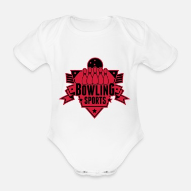 Club bowling_sports_shield_uu2 - Baby Bio Kurzarmbody