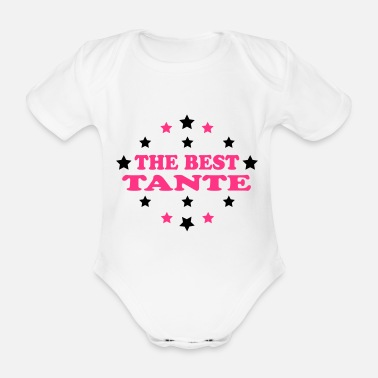 Tante The best tante - Organic Short-Sleeved Baby Bodysuit