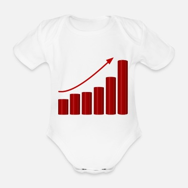 Charts chart arrow - Organic Short-Sleeved Baby Bodysuit