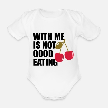 Me WITH ME IS NOT GOOD CHERRY EATING - Baby Bio Kurzarmbody