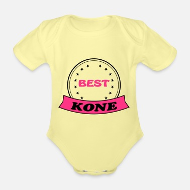 Koning Best kone - Organic Short-Sleeved Baby Bodysuit