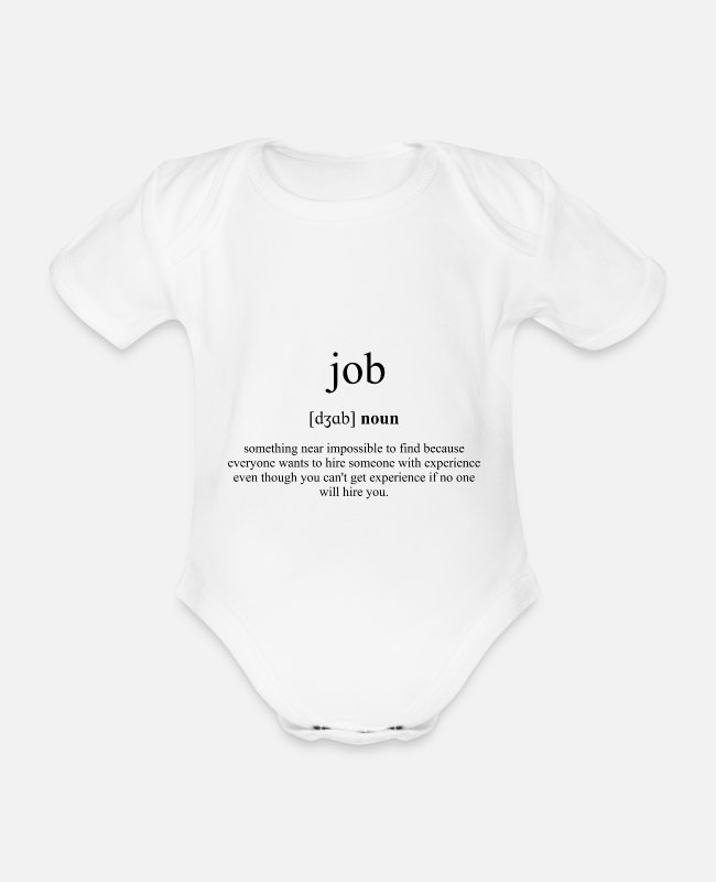 Arbeit Baby Bodys - Job (Arbeit) Definition Dictionary - Baby Bio Kurzarmbody Weiß