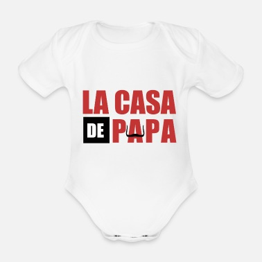 Series THE CASA OF PAPA - Organic Short-Sleeved Baby Bodysuit
