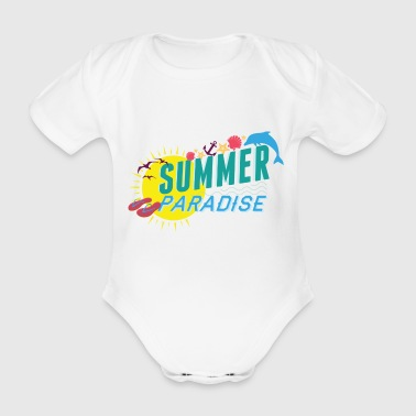 summer paradise holiday Gross sommer paradies - Baby Bio-Kurzarm-Body