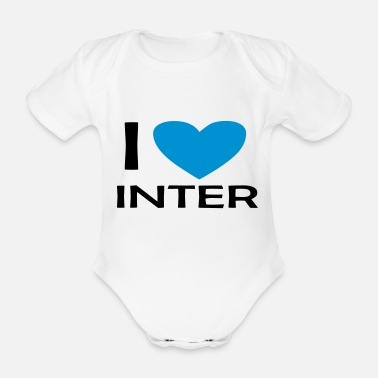Calcio i love inter fabri - Body neonato a manica corta