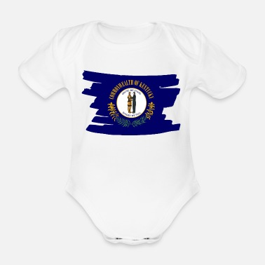 United Kentucky USA - Flag - brush horizontal - Baby Bio Kurzarmbody