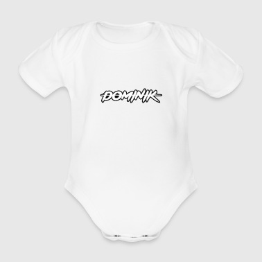 Dominik Name - Baby Bio-Kurzarm-Body